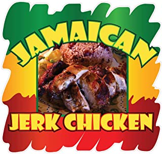 Die-Cut Sticker Multiple Sizes Jamaican Jerk Chicken Style A Restaurant & Food Jamaican Indoor Decal Concession Sign Brown - 10in Longest Side