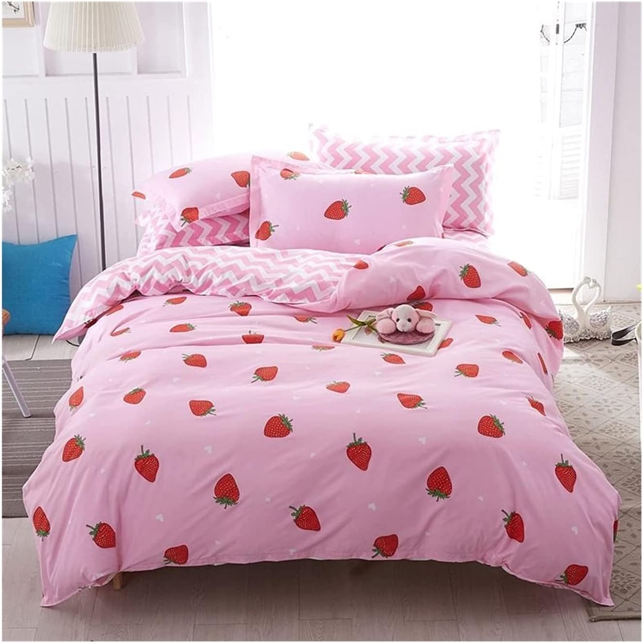 LSDJ QMDSH Branded goods Home Textile Girl Bedding Set Peach lowest price Pink Duvet Cover
