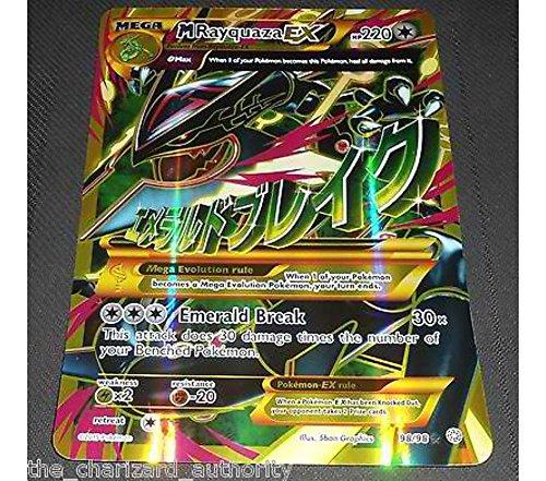 XY Shiny MEGA M Rayquaza EX 98/98 Jumbo Promo HOLO Rare Pokemon Card