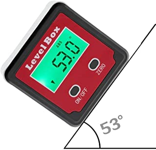 Digital Level - ARESOUL Precision Digital Angle Finder Digital Protractor Inclinometer Level Box, Bevel Box with Magnet Base