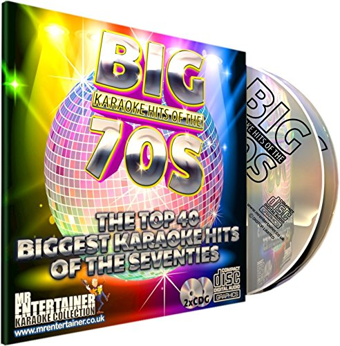 Mr Entertainer Big Karaoke Hits of The 70's (Seventies) - Double CD+G (CDG) Pack. 40 Classic Songs. música de los años setenta