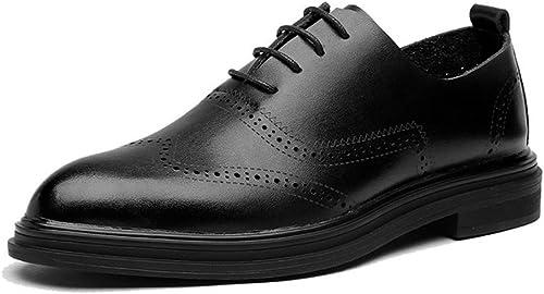 SRY-Chaussures de Mode Mode pour Hommes d'affaires Oxford Oxford Décontracté Simple Chaussures Classiques Classiques Style Britannique (Couleur   Noir, Taille   40 EU)