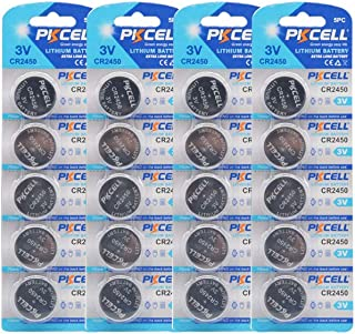 20Pcs CR2450 CR 2450 DL2450 Br2450 3V 600mAh Lithium Button Cell