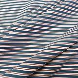 Werthers Stoffe Stoff Baumwolle Jersey Meterware blau rot