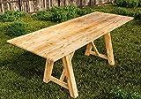 Gartentisch großer Esstisch Lärche Speisetisch für drinnen und draussen - (3039)