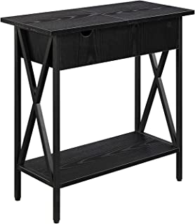 Convenience Concepts Tucson, Electric Flip Top Table, Black