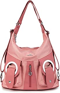 Angelkiss Womens Nylon Hobo Purses and Handbags Oversize Backpack Purse Crossbody Shoulder Bags for Women Multifunctional Bag