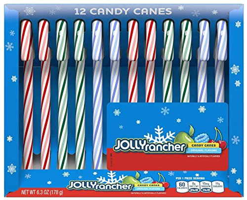Jolly Rancher Candy Canes - Original Flavors - 12 ct - 2 pk