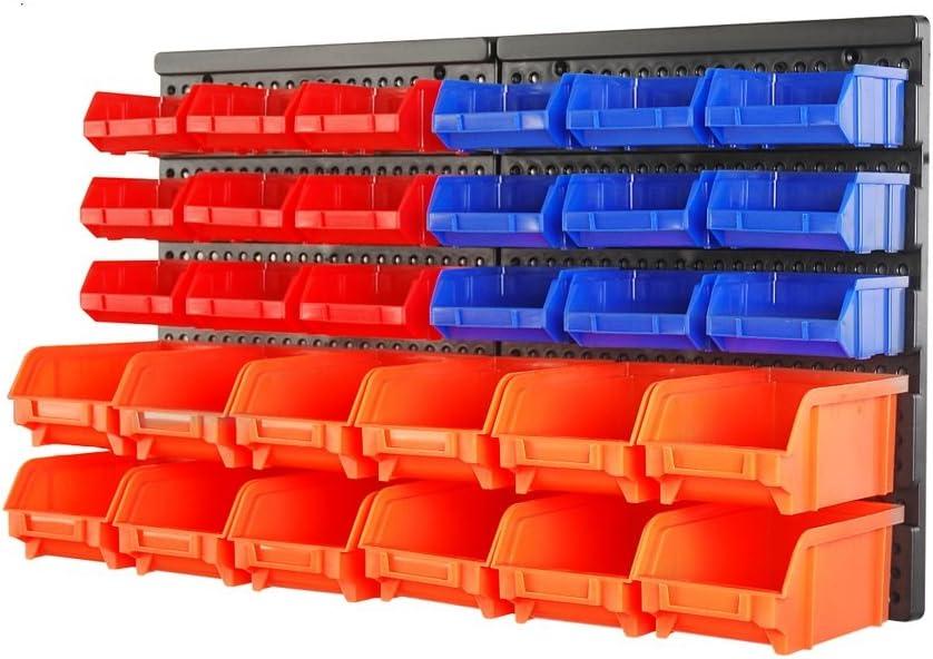 Bombing free shipping HORUSDY New mail order Wall Mounted Storage Bins Organizer Bin Rack Parts 30PC
