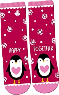 Calcetines Mágicos Pingüinos Rosa Talla Unica (26-36)
