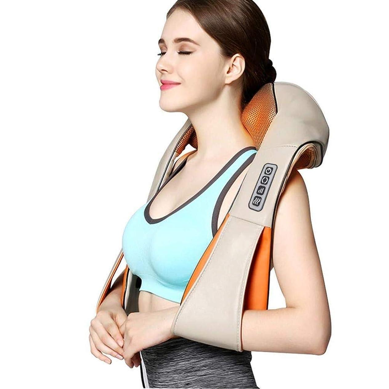 花婿寝るモチーフ指圧ネックの肩のマッサージャー - 3D深いティッシュの混合の首、肩、背中、足、マッサージの痛みを緩和する電気バックマッサージ枕車のオフィスや家庭でリラックス (Color : 4buttons)