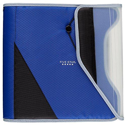 Five Star 1-1/2 Inch Zipper Binder, Easy Access, Durable, Cobalt Blue / Black (29278BC7)