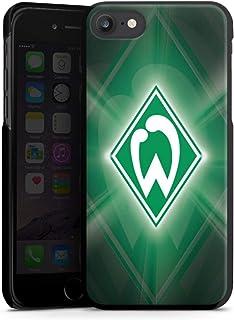 DeinDesign Hard Case kompatibel mit Apple iPhone 7 Schutzhülle schwarz Smartphone Backcover SV Werder Bremen Offizielles Lizenzprodukt Wappen