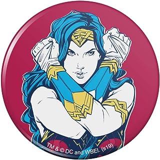 "Wonder Woman Movie Crossed Arms Pinback Button Pin Badge - 2.25"" Diameter"