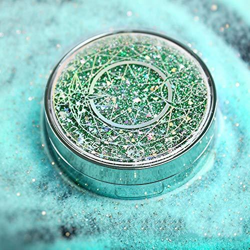 EMRE einfacher und stilvoller Kontaktlinsenbehälter, Magic Array Eye Linsenbehälter, Quicksand Kontaktlinsen-Reise-Etui für Stillen Aufbewahrungsbox tragbar grün