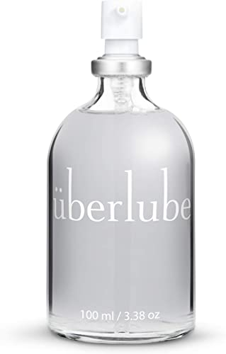 Überlube Luxury Lubricant | Latex-Safe Natural Silicone Lube with Vitamin E | Unscented, Flavorless, Zero Residue, Wo...