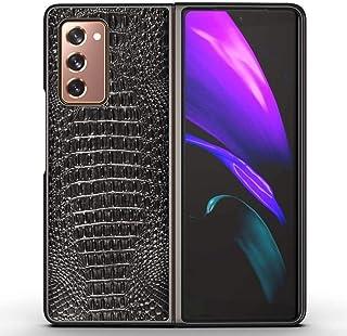 zimisu Cell Phones Accessories for Samsung Galaxy Z Fold 2 5G Case, Premium Genuine Leather Shockproof Ultra-Thin Case Cov...