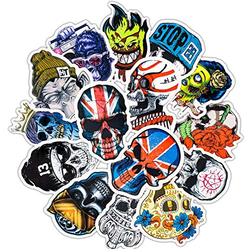 Punk Cool Skull Sticker Carro de Equipaje Laptop Laptop Laptop Toy Sticker Pack 50Pcs