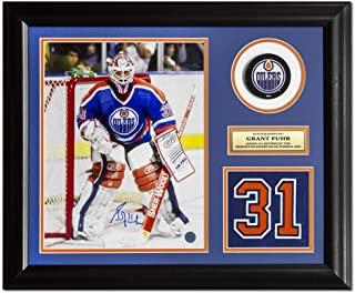 Grant Fuhr Edmonton Oilers Autographed Retired Jersey Number 23x19 Frame
