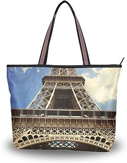 My Daily Damen Schultertasche Eiffelturm Paris Vintage Handtasche
