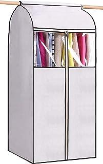MISSLO - Funda para colgar ropa de 54 pulgadas para guardar ropa bien sellada bolsa de polvo con ventana grande transpare...
