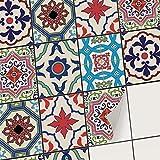 creatisto Autocollant Sticker Carrelage - Feuille adhésif I Carrelage Adhésif mosaique - Revêtement Mural Salle de Bain et Cuisine I Home décoration (20x25 cm I 30 - Pièces)