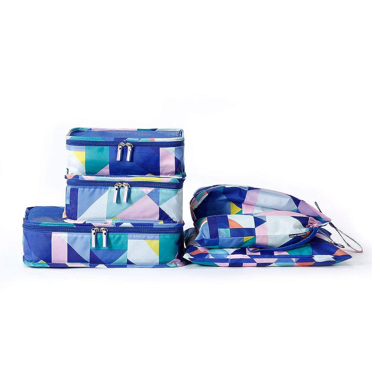 変形する事務所力学アレンジケース トラベルポーチ 6点セット 衣類 収納 スーツケース 旅行用便利グッズ 出張 衣類収納 靴バッグ PC周辺小物整理 洗面用具入れ ランジェリーケース