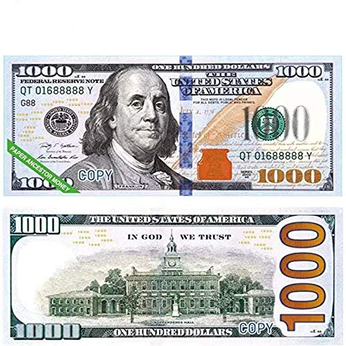 Turlove Ancestor Money US Dollars Joss Paper Money to Burn for Funeral Tomb-Sweeping Day Strengthen Connection with Your Ancestors, Bring Good Luck Wealth and Health(320pcs)