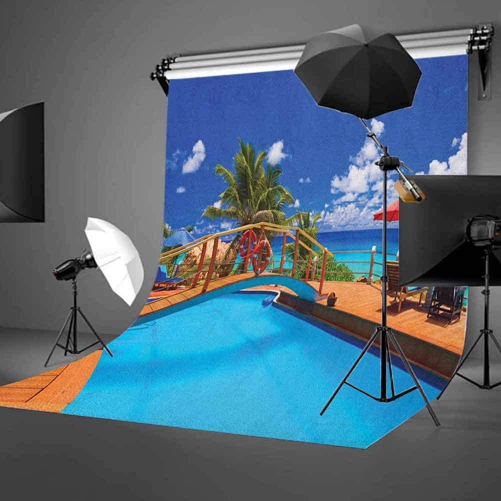 8x12 FT European Vinyl Photography Backdrop,Scenic Summer View at Sunset Copenhagen Denmark Old Scandinavian View City Europe Background for Photo Backdrop Baby Newborn Photo Studio Props