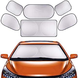 GLURIZ Parasoles de Coche, 6 Piezas Parasoles para Auto, Parasol Coche para Bebés y Mascotas, Protección Auto Frontal Pleg...