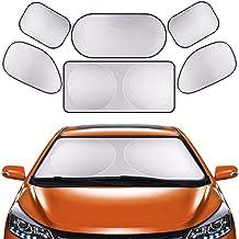 GLURIZ Parasoles de Coche, 6 Piezas Parasoles para Auto,