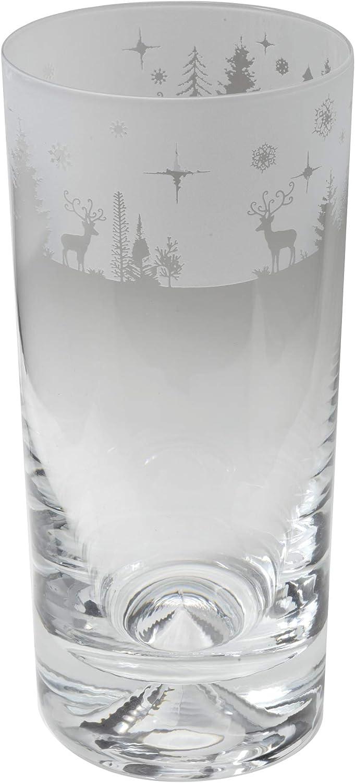Milford Collection Animo Glass Glass- Winter Wonderland quality assurance List price Highball