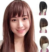 Shinon Hair Bangs Clip for Women Wispy Hair Bangs 10 A Human Hair Fashion clip in Hair Extension Dark Brown Color