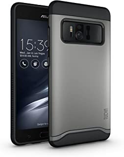 TUDIA ZenFone AR Case, Slim-Fit Heavy Duty [Merge] Extreme Protection/Rugged but Slim Dual Layer Case for Asus ZenFone AR (ZS571KL) (Metallic Slate)