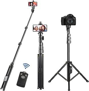 自撮り棒 三脚 Apsung セルカ棒 ワイヤレス iphone用 スマホ Bluetooth リモコン 三脚スタンド 無線 三脚/一脚兼用 軽量 一眼レフ カメラ兼用 iPhone 11/11 Pro/11 Pro Max iPhoneX iPhone8 iPhone7 iPhone/Android スマホ等対応