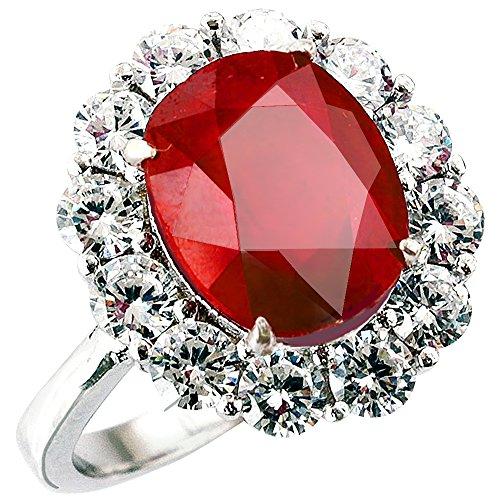 One&Only Jewellery 【鑑別書付】 一生物 超大粒 5ct 天然 ルビー リング 指輪 K18GP 宝石の女王 7月誕生石 (11号)