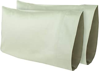 AB Lifestyles 2 Pack 12x18 300 Thread Count 100% Cotton Travel Pillowcase Fits MyPillow Go Anywhere Pillow, Travel Size, Toddler Size Pillowcase, Color: Sage (Made in The USA!)