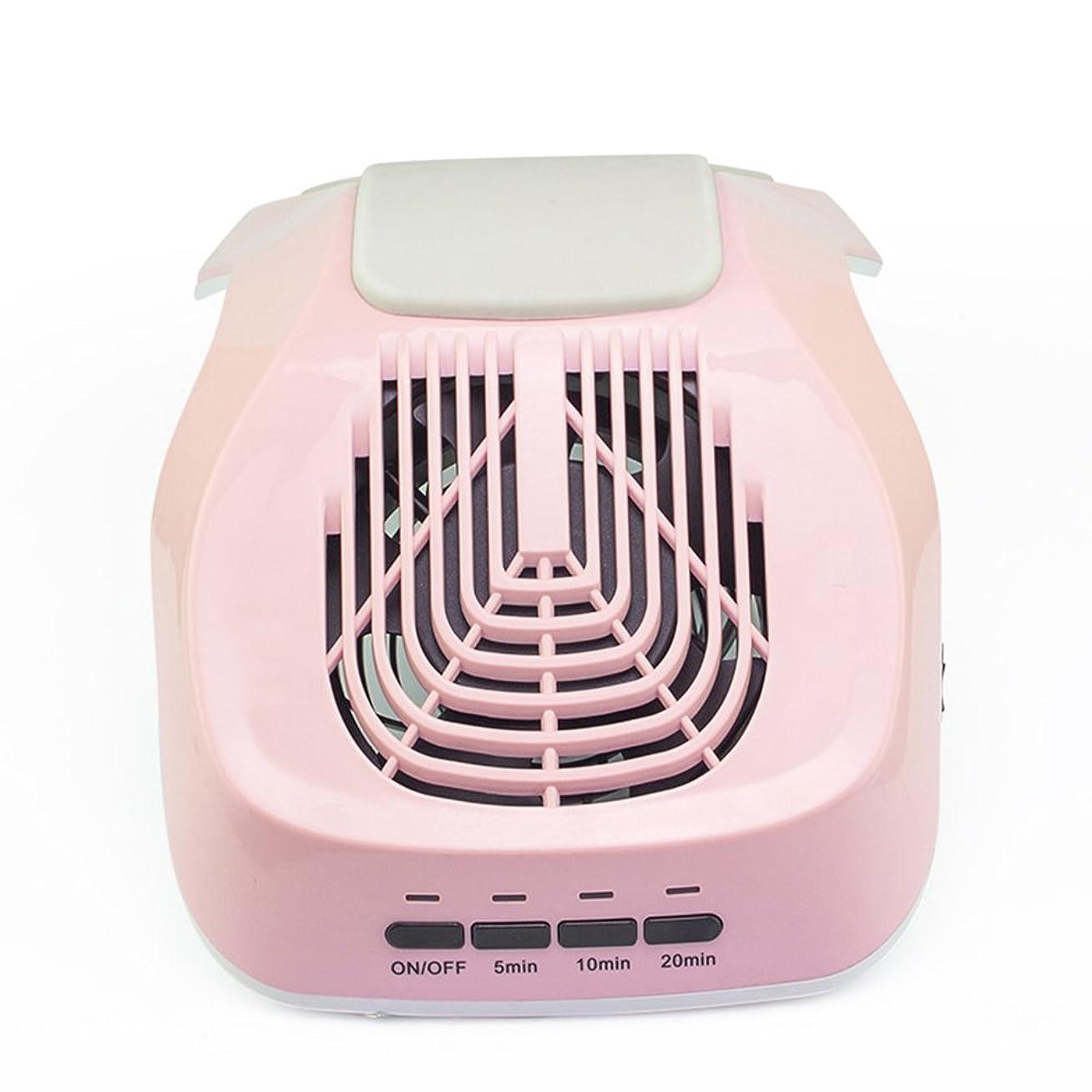 代表して静的ヒップ爪掃除機25Wミニプロフェッショナル1ファン扇風機ビッグサクション爪パウダーダストコレクターライトピンク