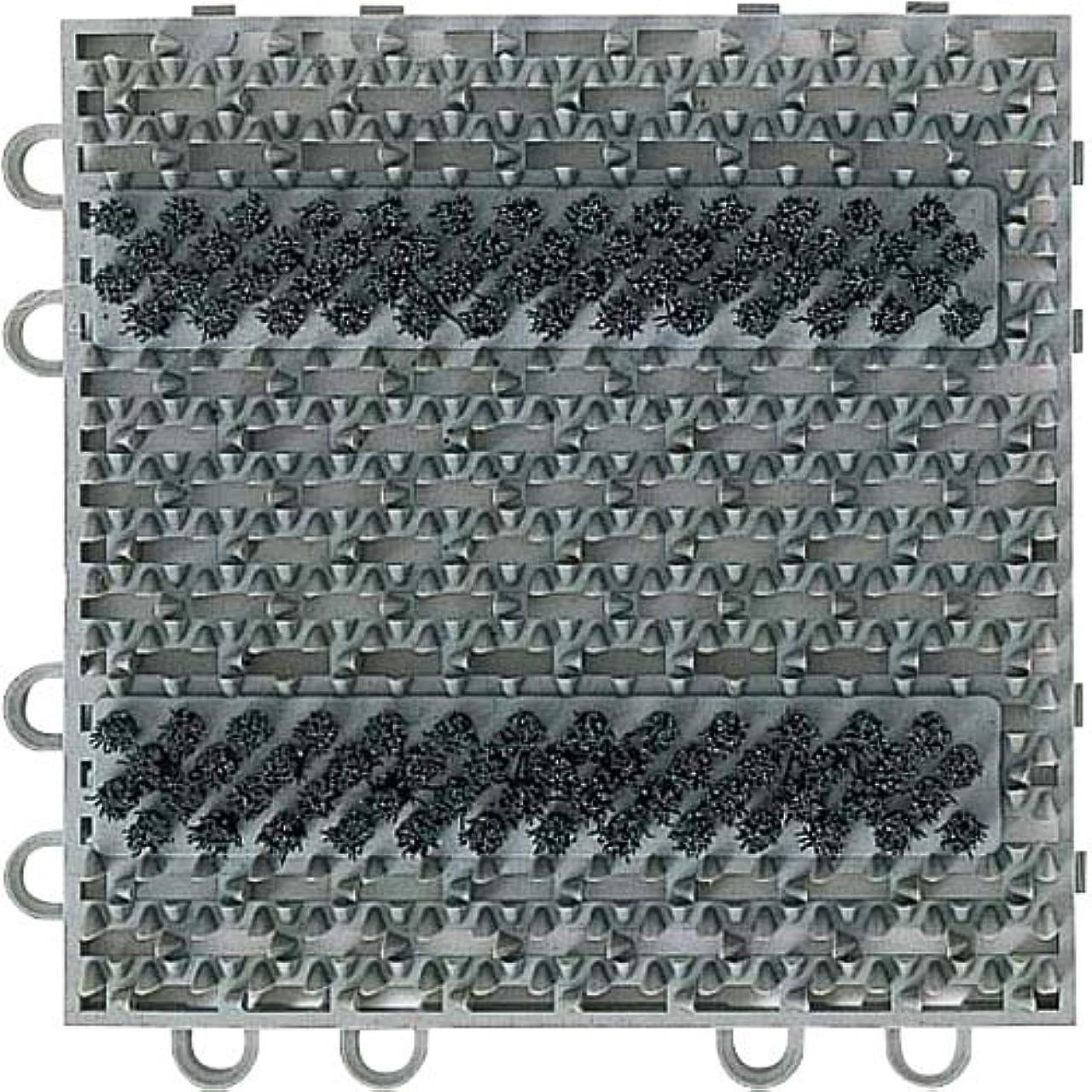 ずらす高度検索エンジン最適化山崎産業 エバックブラシハードマットYL (本駒) グレー