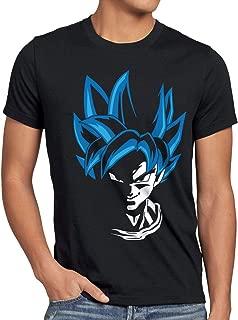 Super Goku Blue God Modo Camiseta para Hombre T-Shirt