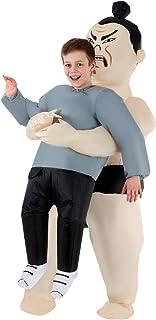ازياء مورف - زي قابل للنفخ للاطفال بتصميم مصارع سومو - زي رائع بمقاس واحد يناسب معظم الاطفال بطول 5 اقدام