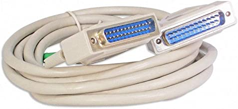 Your Cable Store 10 Foot DB25 25 Pin Serial Port Cable Male/Male RS232