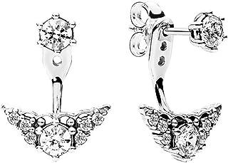 Sterling Silver Fairytale Tiara Stud Earrings 296228CZ