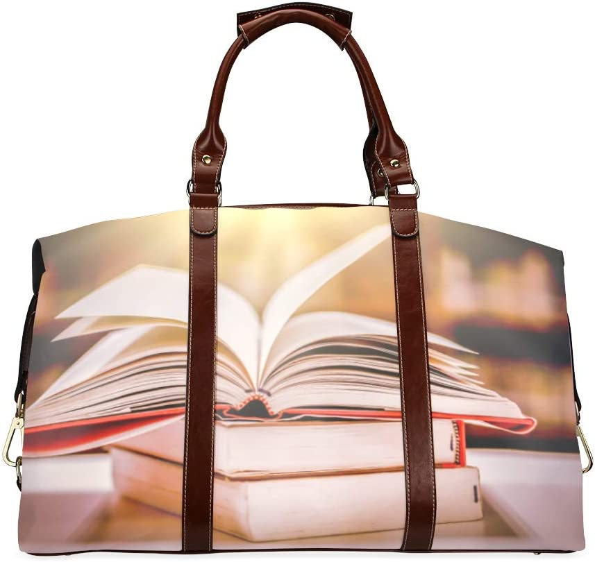 Charlotte Mall Popular brand Carryon Duffel Bag Books In Library W Classic Bookcase Oversized