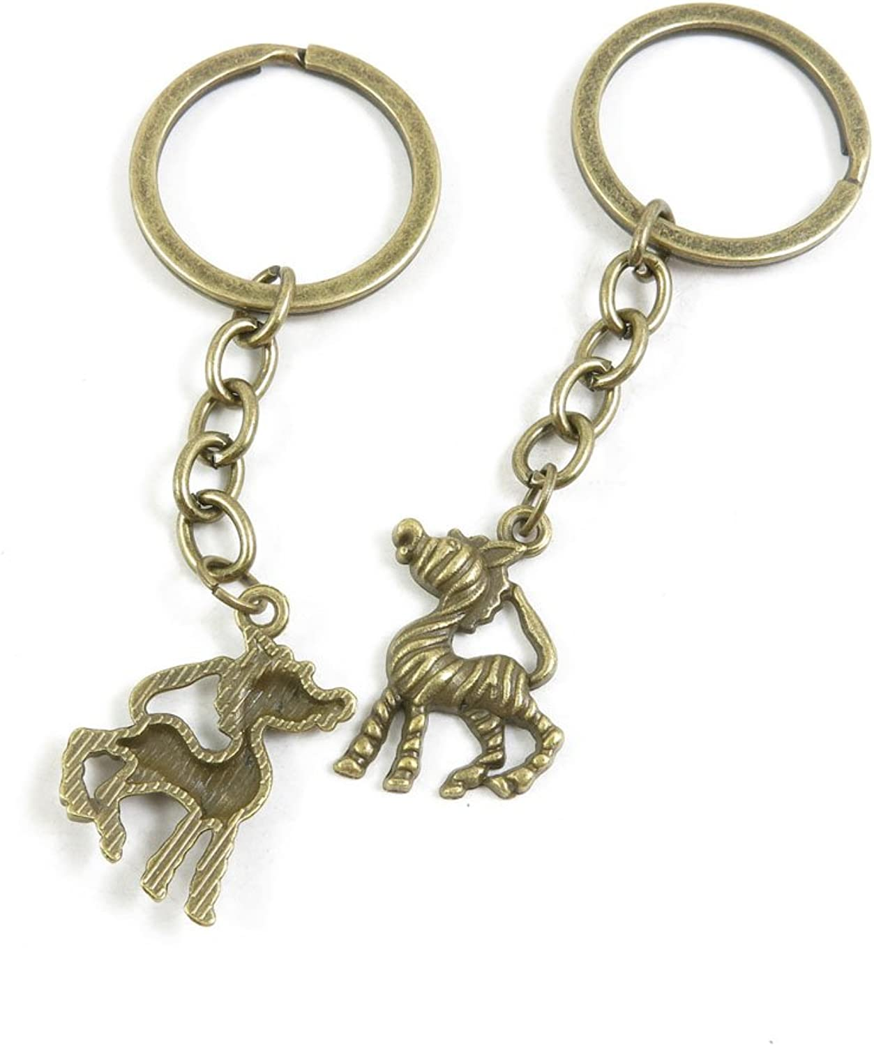 190 Pieces Fashion Jewelry Keyring Keychain Door Car Key Tag Ring Chain Supplier Supply Wholesale Bulk Lots O8ZK6 Zebra Horse