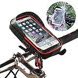 Support Vélo Sacoche de Cadre Téléphone Etanche, Smartphone Guidon Fixation Universel Rotatif à...