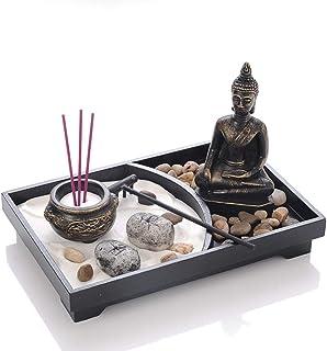 libelyef Jardín Zen Estatua de Buda Arena Meditación Pací