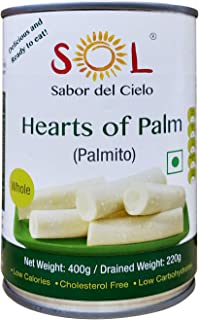 Sol Whole Hearts of Palm, 400g