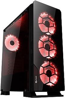 Talius Caja ATX Gaming Gárgola Tornado - Frontal y Lateral de Cristal Templado - USB 3.0-2X USB 2.0 - Sin Fuente - Negra