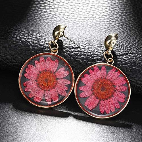 Oor manchetten voor vrouwen oorbellen In Drop oorbellen grote ronde acryl zonnebloem Dangle Boho oorbellen sieraden goud kleur cadeau voor vriendez330-2